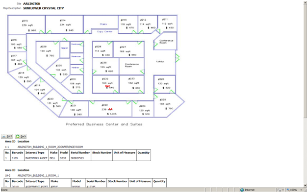 Asset Mapping Screen Shot